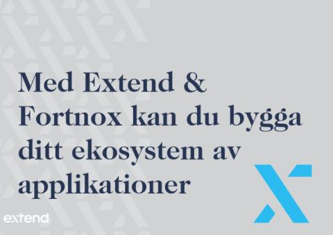 Extend blir certifierad partner till Fortnox