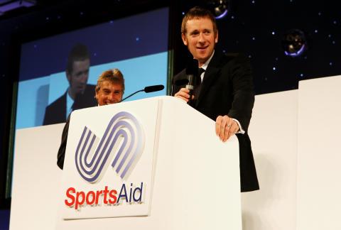 SportsAid alumnus Sir Bradley Wiggins at the SportsBall in 2008