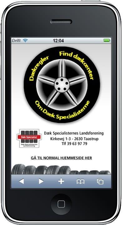 Nu kan du finde Dæk Specialisterne på din smartphone.