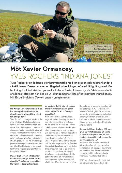 Intervju Xavier Ormancey, forsknings- och utvecklingschef Yves Rocher