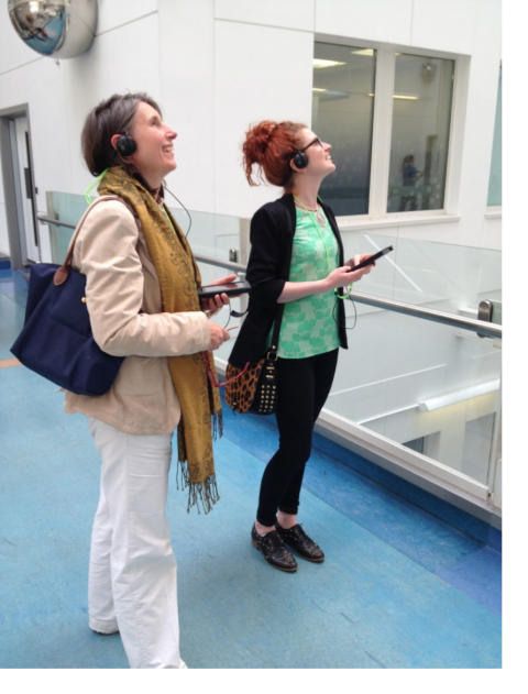Eleonore Heijboer and Amy Carmichael at Chelsea and Westminster Hospital