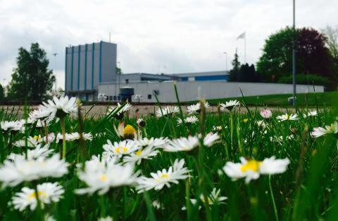 Vattenverket i Trollhättan, idag drygt 50 år gammalt.