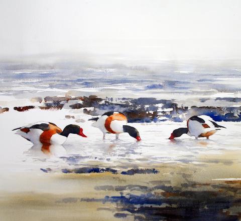 Akvarell av Morgan Johansson