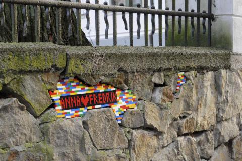 Alla hjärtans dag även för Kulturens mur!