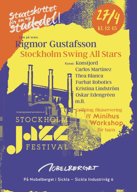 Så firas startskottet för Sicklas nya stadsdel Nobelberget – scenprogram signerat Stockholm Jazz Festival