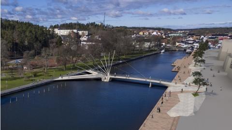 Ramböll testar vingarna i Norrtälje hamn