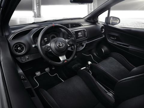 Inredningen i Yaris GRMN är utvecklad av Toyota i Europa