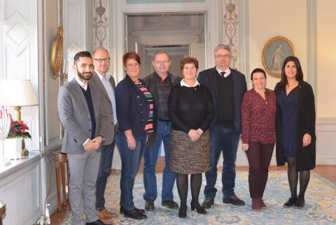 Dalabänken på lunchmöte hos Landshövding Ylva Thörn