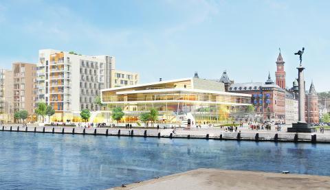 Midroc utvecklar en ny kongress- och hotellanläggning samt 150 bostäder i Helsingborgs city med namnet SeaU Helsingborg