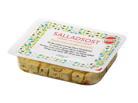 Nyhet! Larsa Foods utökar sin traditionella vitostserie med ytterligare två sorters tärnad salladsost i marinad.