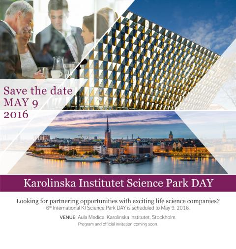 Save the date – KI Science Park DAY 2016