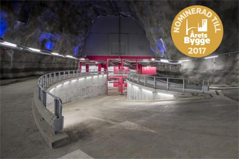 Bergrummet nominerat till Årets Bygge 2017