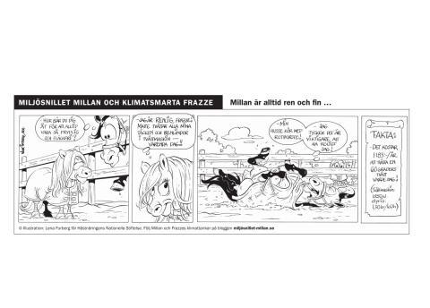 Millan och Frazze - en klimatsmart seriestripp del 4
