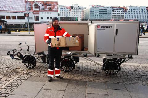 El-varesykkel i Bergen sentrum