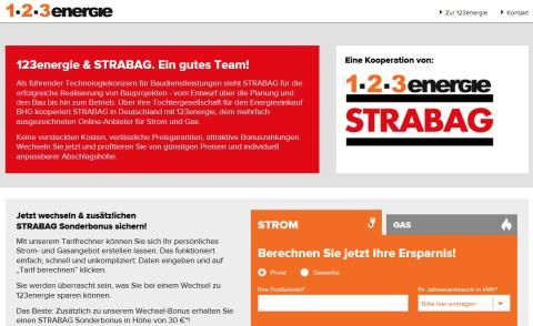 STRABAG und 123energie kooperieren: Günstige und nachhaltige Energie für jedermann