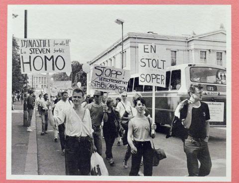 En trønder i Prideparaden 1983