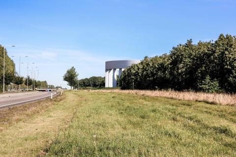 Nytt vattentorn i Helsingborg - vy från Österleden.
