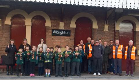 Albrighton visitors receive brighter welcome thanks to station adoption