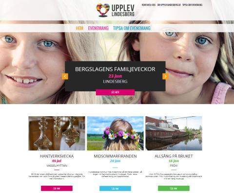 Nu är Lindesbergs evenemangswebb upplevlindesberg.se lanserad
