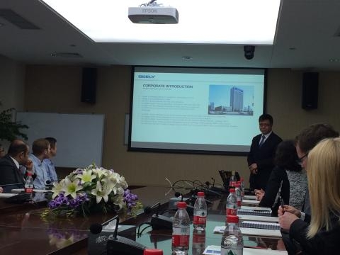 Executive MBA class visited Geely in Hangzhou