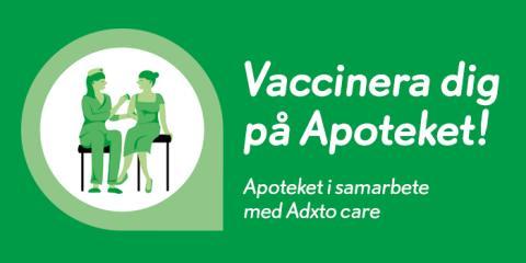 Apoteket utökar vaccinationstjänst till 13 nya orter i Sverige