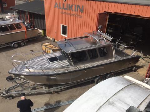 ALUKIN CR 850, byggd för sportfiske och trolling