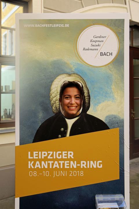 Bachfest Leipzig 2018 - Fotopunkt im Innenhof des Bosehauses (Thomaskirchhof 15/16)
