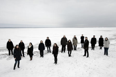 Camerata Nordica - standing without instruments in snow