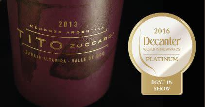 Exklusiv lansering av världens bästa röda vin enligt Decanter; Tito Zuccardi Paraje Altamira 2013