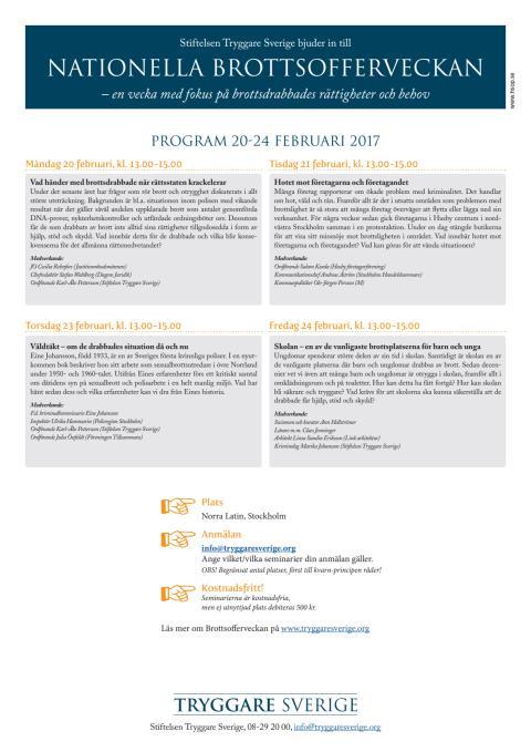 Inbjudan Nationella Brottsofferveckan 2017