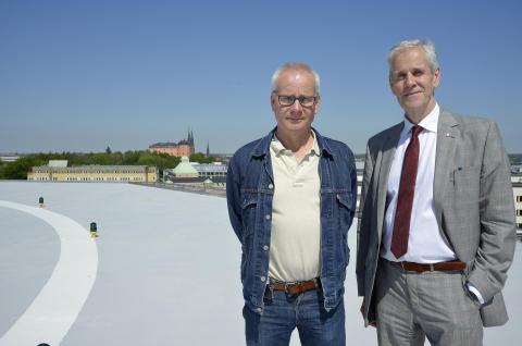 Sjukhusdirektör Per Elowsson och Börje Wennberg, ordförande i landstingsstyrelsen (S)