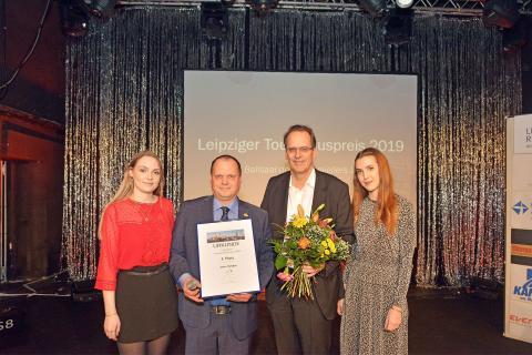 """Jens Gröger, Inhaber der Gosenschenke """"Ohne Bedenken"""", erhielt den dritten Platz in der Kategorie Persönlichkeiten."""