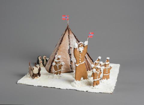 Pepperkakebakekonkurransen 2015. «Amundsen på Sydpolen»