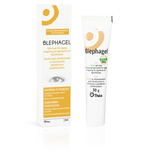Blephagel – återfuktande och mjukgörande rengöringsgel för känsliga ögonlock och fransar