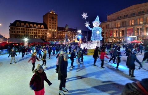 "Ab 12. Januar 2018: ""2. Leipziger Eistraum"" auf dem Augustusplatz"