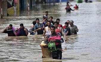Stor katastrofinsats i Indien