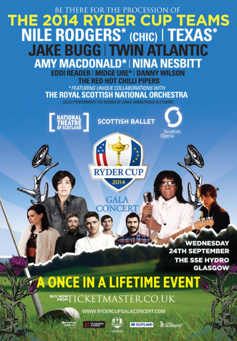 Late deals: Accommodation and tickets available for the Ryder Cup Gala Concert in Glasgow on 24 September
