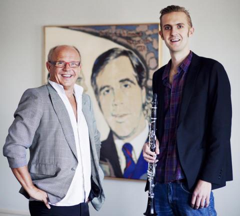 Uruppförande av Christian Lindbergs klarinettkonsert, beställd av Anders Wall för Emil Jonason
