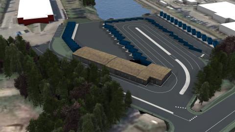 Växjö kommun bygger ny återvinningscentral