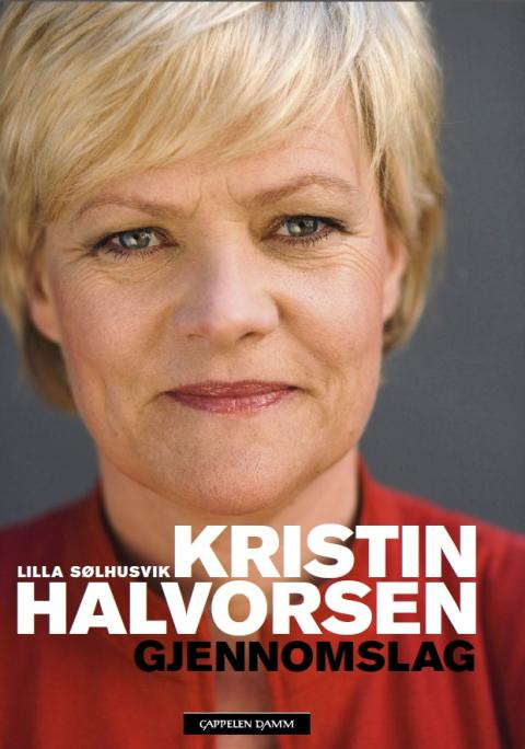 Kristin Halvorsen. Pressekonferanse