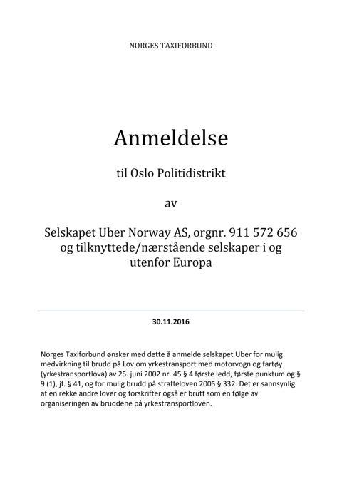 Anmeldelse av selskapene Uber