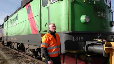 Anders Lindström, lokförare och instruktör, berättar om ett omväxlande arbete