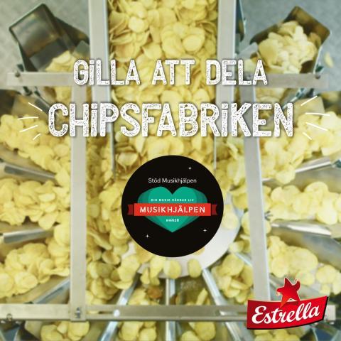 Buda på ett besök hos Estrella i chipsfabriken, för Musikhjälpen 2018