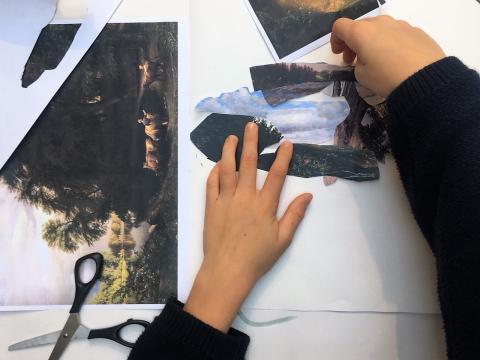 Collage-værksted