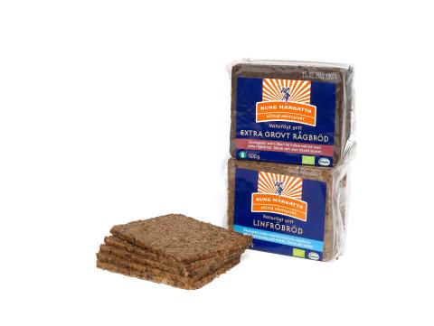 Tillökning i Kung Markattas populära brödfamilj - Två nya KRAV-märkta fullkornsbröd har sett dagens ljus