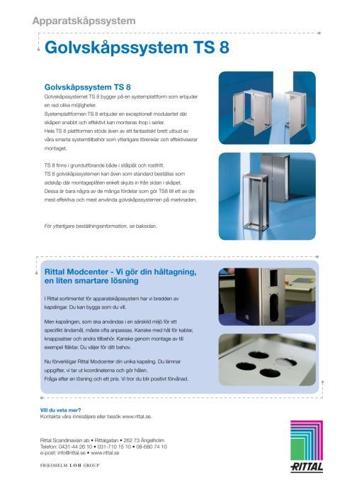 Golvskåpssystem TS 8