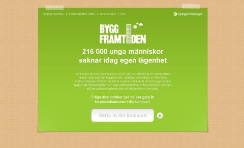 Nu lanserar vi sajten Bygg framtiden! Vågar politikerna svara?