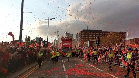 Thank you to members of the public who turned out to support the newly crowned Champions of Europe in Liverpool today