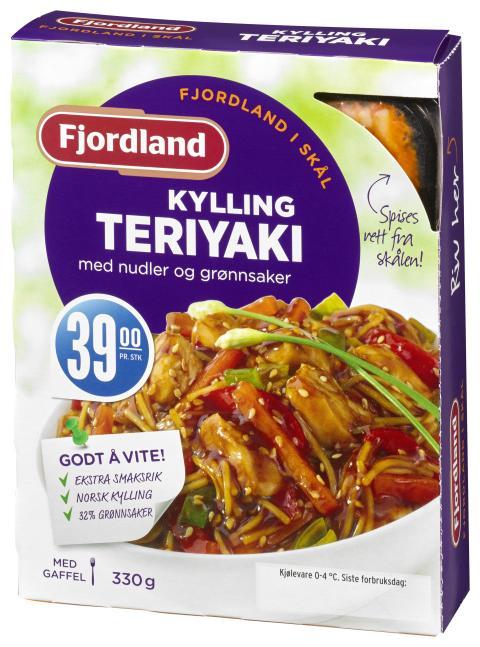 Fjordland i Skål: Kylling teriyaki