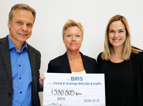 Circle K:s insamling till Bris har nått över 10 miljoner kronor